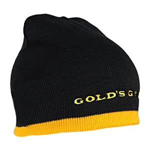 Golds Gym Two-Tone Knit Beanie 100% Polyester (Schwarz Gold)
