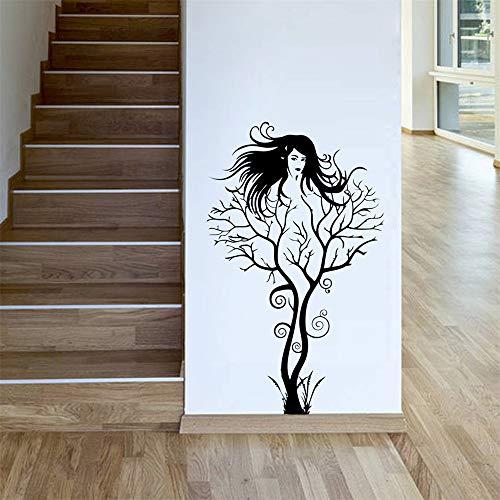 zzlfn3lv Zweig mädchen wohn - und Schlafzimmer Hintergrund kreative wandsticker - großhandel wasserdicht Herausnehmbaren 1. -