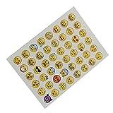MagiDeal 20 Blätter Sterben Schnitt Emoji Aufkleber Für Telefon-Laptop Dekor für MagiDeal 20 Blätter Sterben Schnitt Emoji Aufkleber Für Telefon-Laptop Dekor