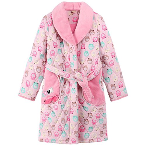 ZLR Pigiama da donna Plus Camicia da notte in cotone spessa caldo autunno e inverno Cute Cartoon Home accappatoi ( dimensioni : M )