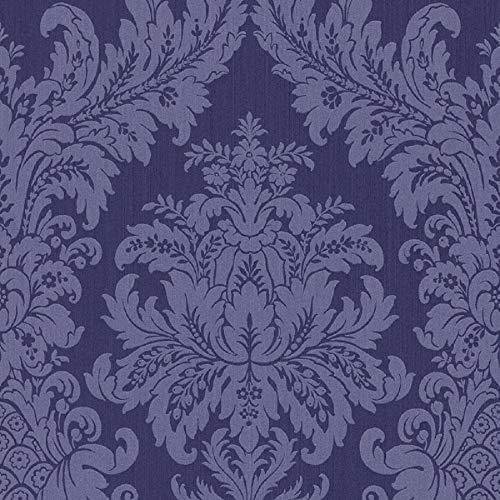 Casa Padrino Barock Textiltapete Blau 10,05 x 0,53 m - Luxus Wohnzimmer Tapete