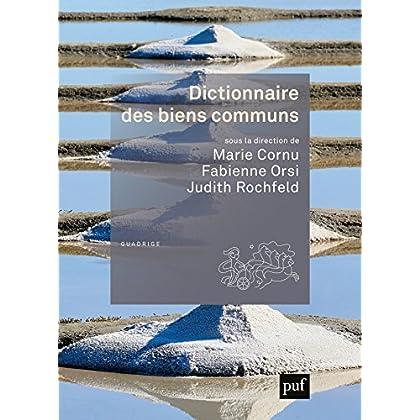 Dictionnaire des biens communs (Quadrige dicos poche)