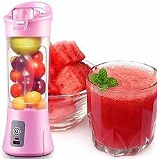 NH MART Plastic Portable USB Electric Blender Juice Cup(Multicolour 1 Qty)