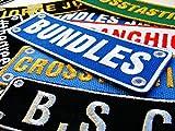 Namens-Flicken, Personalisierbar, Bestickt, Annähen, Aufbügeln, Baumwolle, baumwolle, mehrfarbig, Large