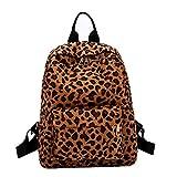 OHQ Rucksack Damen herren, Leopardenmuster Outdoor Rucksack Mode Schulrucksack, Hochwertige Damen Rucksäcke, Premium Packbeutel-Set Für Reise, Freizeit Und Ausflug