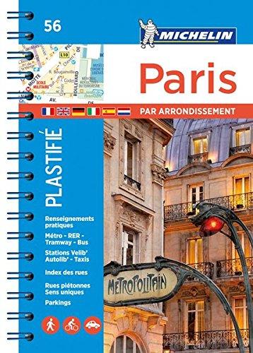 Michelin Stadtplan Paris par arrondissement: Spiralbindung, plastifiziert (MICHELIN Stadtpläne, Band 206721140)