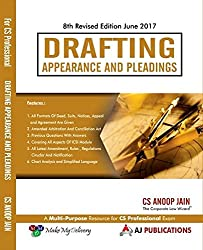 Drafting Appearance and Pleadings for CS Professional June 2017 Exam