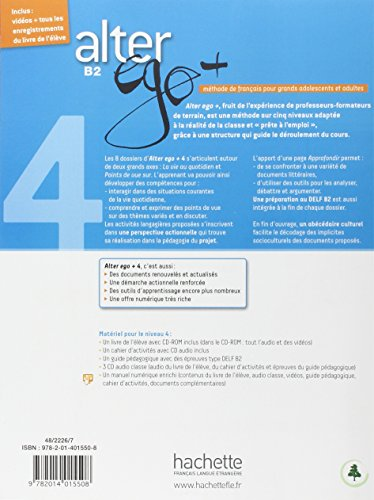 Alter Ego +: Livre de l'eleve + CD-ROM B2