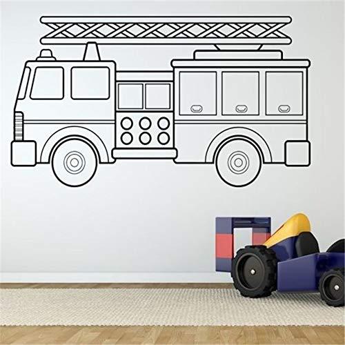 102 * 58 cm Wand Room Decor Art Vinyl Aufkleber Wandbild Feuer Männer Lkw Auto Poster Wandaufkleber Ausgangsdekor Abnehmbare Vinyl aufkleber (Lkw Feuer Auto)