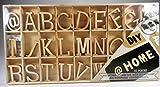 81 tlg. Set Holzbuchstaben Alphabet ABC natur 3cm Scrapbooking Streudeko Deko GAC B351