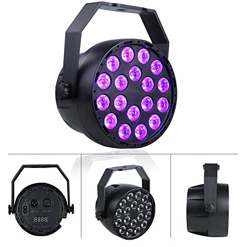 Easehold LED Disco Lichteffekte UV Licht 12 Modus DMX Controller Projektor Stroboskop DJ Musikgesteuert Bühnenbeleuchtung für Party Bar Geburtstag AC220V