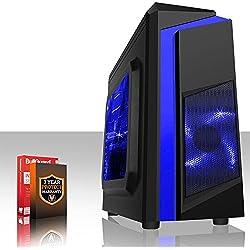 Fierce TERRA 8 Gaming PC - Veloce 2 x 3.8GHz Dual-Core AMD A-Series 9500, 1TB Disco Rigido, 8GB di 2133MHz DDR4 RAM / Memoria, AMD Radeon R5 Grafica Integrata, Gigabyte Ultra-Durable GA-A320M-S2H Scheda Madre, CiT F3 Nero Cassa/Blu Ventilatore, HDMI, USB3, Wi - Fi, Entrata perfetta nei giochi per PC, Finestre non Incluso, 3 Anni Di Garanzia 220132