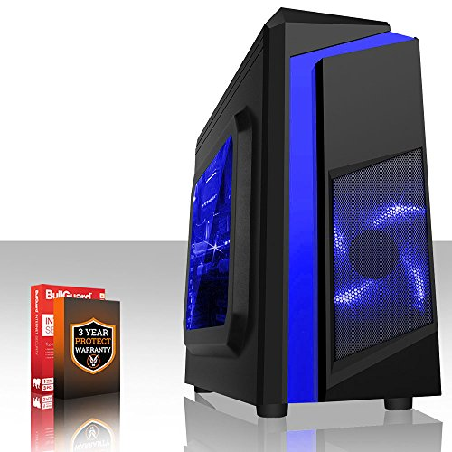 Fierce Ultra rápido Dualcore AMD Gaming PC doméstico (juego de ordenador) - 3,9GHz AMD A-Series A4-6300 - Oficina, computadora de la familia - (WIFI, 8GB RAM, Disco Duro de 1TB, gráficos R7-Series integrados) - 220022