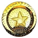 Caithness Glass Gold Star Briefbeschwerer 75mm (ht) x 80mm (dia)