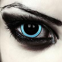 "Mini sclera lentillas de colores negro y azul para Halloween costume 17mm lentes de tres meses sin dioprtías / corregir + gratis caso de lente ""Galactic"""