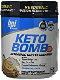 BPI Sports Keto Bomb Ketogenic Creamer for Coffee and Tea 18 Servings Caramel Macchiato