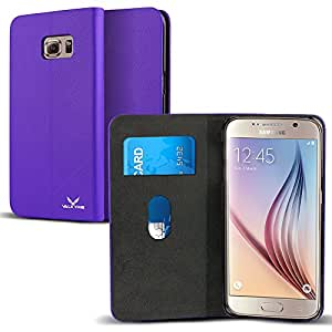Galaxy S6 Edge Plus Case, VALKYRIE Samsung Galaxy S6 Edge Plus Flip Slim Wallet Case For Samsung Galaxy S6 Edge Plus with Card Slot Flip Cover and Stand Feature - Purple