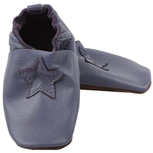 EN-FANT mixte chaussons en cuir, noir, taille 24, 813115U-00 02 Purple
