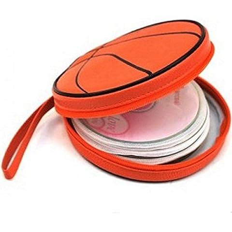 Caso Baloncesto Bolsa de DVD CD Holder Llevar organizador del almacenaje del disco 24