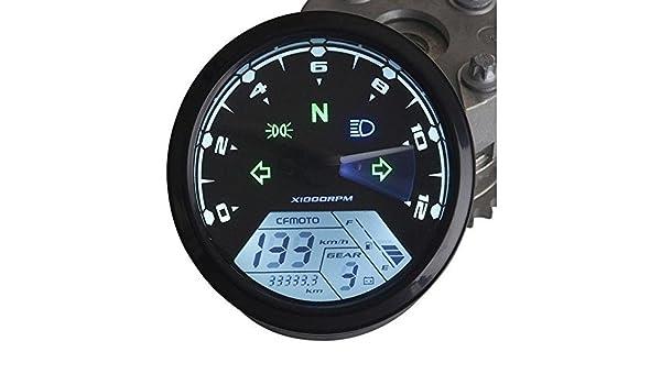IZTOSS MPH/KMH 124MPH/199kmh 12000 rpm LCD Digital
