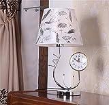 TOTO-creativos de la moda moderna relojes con la lámpara de la lámpara de cabecera dormitorio de la lámpara del reloj