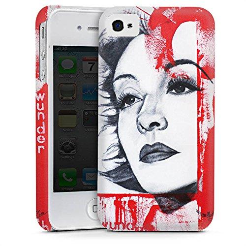Apple iPhone 6 Housse Étui Silicone Coque Protection Zarah Leander Dessin Femme Cas Premium mat