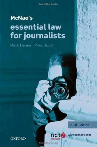 McNae's Essential Law for Journalists by Hanna, Mark, Dodd, Mike (March 29, 2012) Paperback