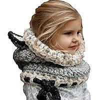 Aclth Chicos de Invierno para niñas Niño Niños Bebé Sombrero Caliente Sombreros de Zorro Tejido de Punto Capucha Capucha Bufandas para otoño Invierno para Actividades de Snowboard al Aire Libre
