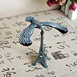 QAZWSX Aquila di gravità, Ornamenti Non invertiti, Uccello di Equilibrio in Metallo Creativo, Decorazione del Soggiorno, Altezza: 15 cm@Balance Bird - Grey Trumpet