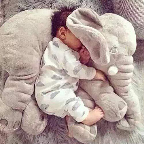 Almohada de bebé Almohada de elefante Elefante de felpa suave Almohadas para...