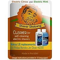 Equivalentes a 3,2 botellas de Philips Norelco Jet Clean Solution HQ200 - Cítrico y Menta - 2 soluciones limpiadoras Shaver Shebang -
