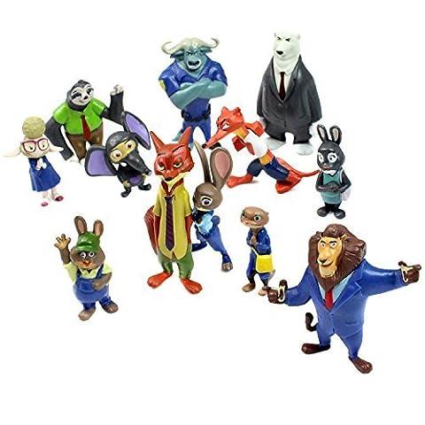 Zootropolis Figures Zootopia Characters 12 Piece