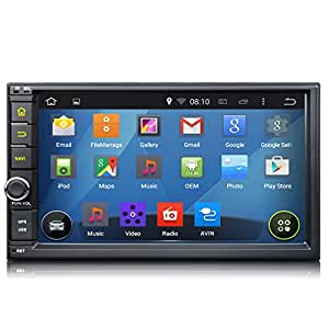 Voiture ga2114Quad Core Android 4.4.4KitKat Système d'exploitation Double 2DIN 17,8cm stéréo de voiture GPS Sat Nav Système BlueTooth Écran tactile Radio WiFi