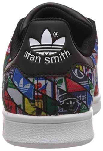 adidas Originals Stan Smith S7768, Sneakers Unisex - Adulto Multicolore (Negro/Azul/Rojo S77683)