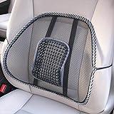 Sedeta® Ammortizzatore di massaggio posteriore della maglia Lumber gancio di sostegno Office Chair Car Seat Relax Pad
