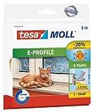 tesa 05463-00120-00 tesamoll Classic E-Profil-Gummidichtung weiß 6m