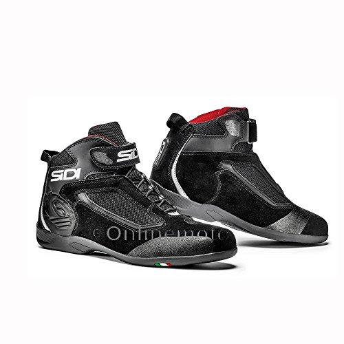 Sidi Gas Leather Motorcycle Boots 45 Black (UK 10.5)
