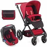 Jane y silla de paseo Muum Koos asiento de coche sistema de viaje–rojo