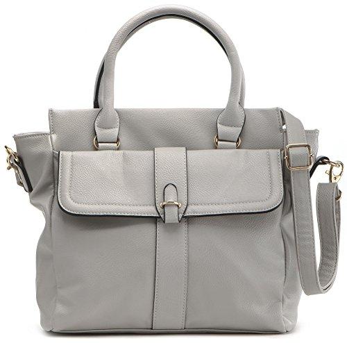 MASQUENADA, borsa da donna, Borsa da shopping, Borsa per compere, Borsa a mano, 27 x 26,5 x 12 cm grigio luminoso