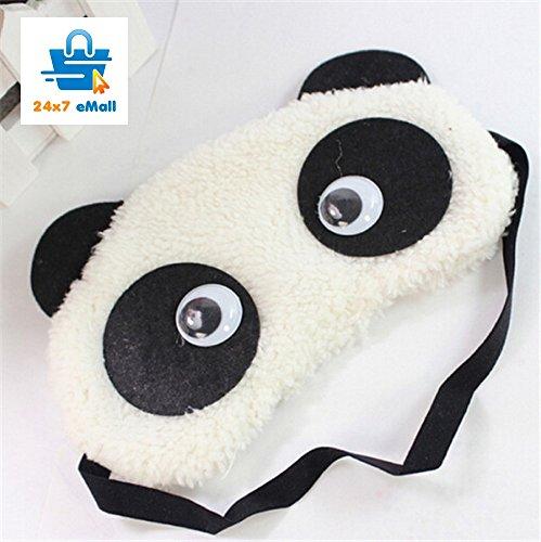 24x7 eMall Dreamy Eyes Panda White Sleep Mask
