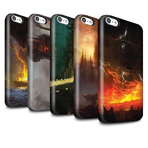 Offiziell Chris Cold Hülle / Glanz Harten Stoßfest Case für Apple iPhone 5C / Pack 8pcs Muster / Gefallene Erde Kollektion Pack 8pcs