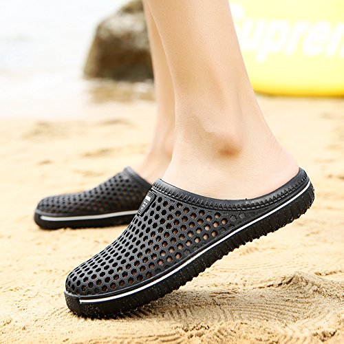 Les hommes de l'été, les chaussons chaussures trou, les chaussures de plage, chaussures cool Baotou, ventilation, anti-dérapante, faites glisser la moitié des chaussures étanches Green