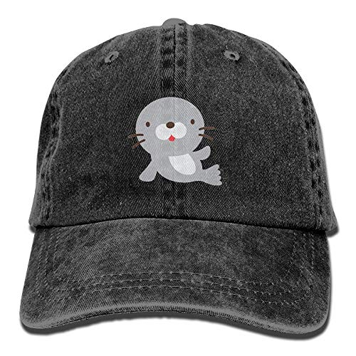 nim Cute Baby Seal Adjustable Baseball Cap Dad Hat Low Profile Perfect for Outdoor ()