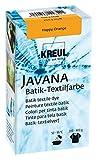 Kreul 98523 - Javana Batik Textilfarbe, zum Färben von Textilien mit der Shibori Technik, 70 g Farbpulver in Happy Orange