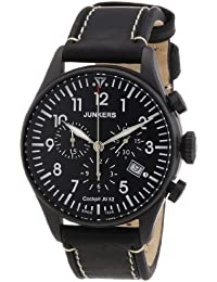 Junkers Herren-Armbanduhr XL Chronograph Quarz Leder 6182-2