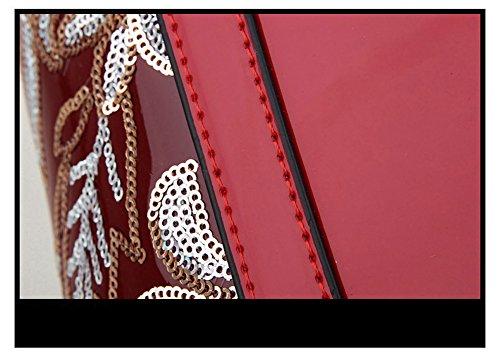 VOLSGEAT Borsa Messenger, Red (rosso) - E71 Black