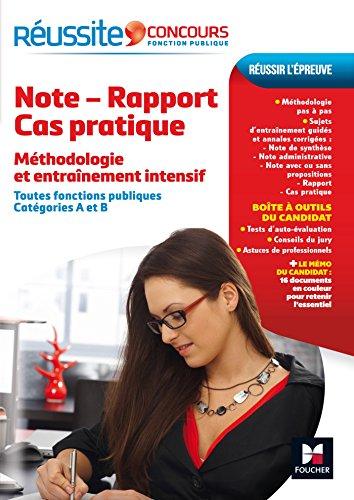 Réussite Concours Note-Rapport-Cas pratique
