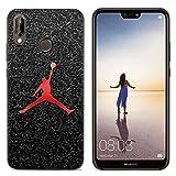IMCASE Funda Silicona Huawei P20 Lite, Carcasas Slim Suave Impresionante Dibujos Shockproof Anti-Rasguños Protectora Cover Case para Huawei P20 Lite - Baloncesto