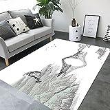 BWS_ Einfache Moderne Schlafzimmer Voller Shop Couchtisch Sofa Schreibtisch rechteckigen Chinesischen Stil Teppich,