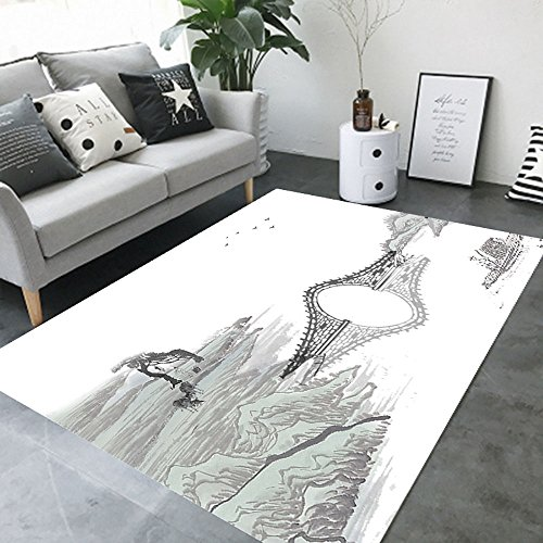 BWS_ Einfache Moderne Schlafzimmer Voller Shop Couchtisch Sofa Schreibtisch rechteckigen Chinesischen Stil Teppich, (Karo-kunst-materialien)